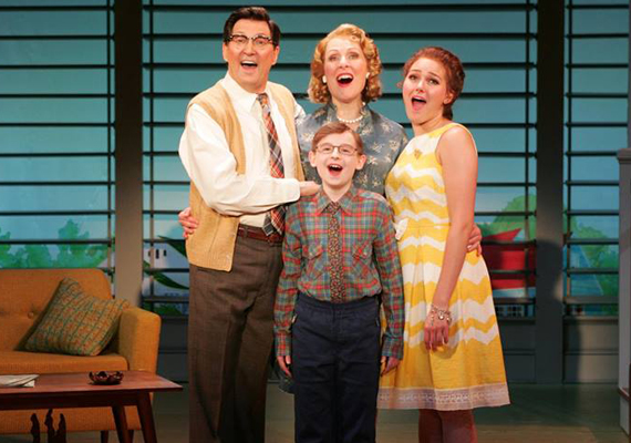 """...Two cast members merit special comment:  Janet Decal...and Warren Kelley, who was so good as Atticus Finch in Orlando Shakespeare's 2015 production of 'To Kill A Mockingbird' turns Harry MacAfee...into a winsome spoof of the hapless sitcom dads of yore..."""